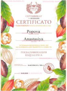Курс по Superato con profitto il corso di Сертификат 10.02.2018