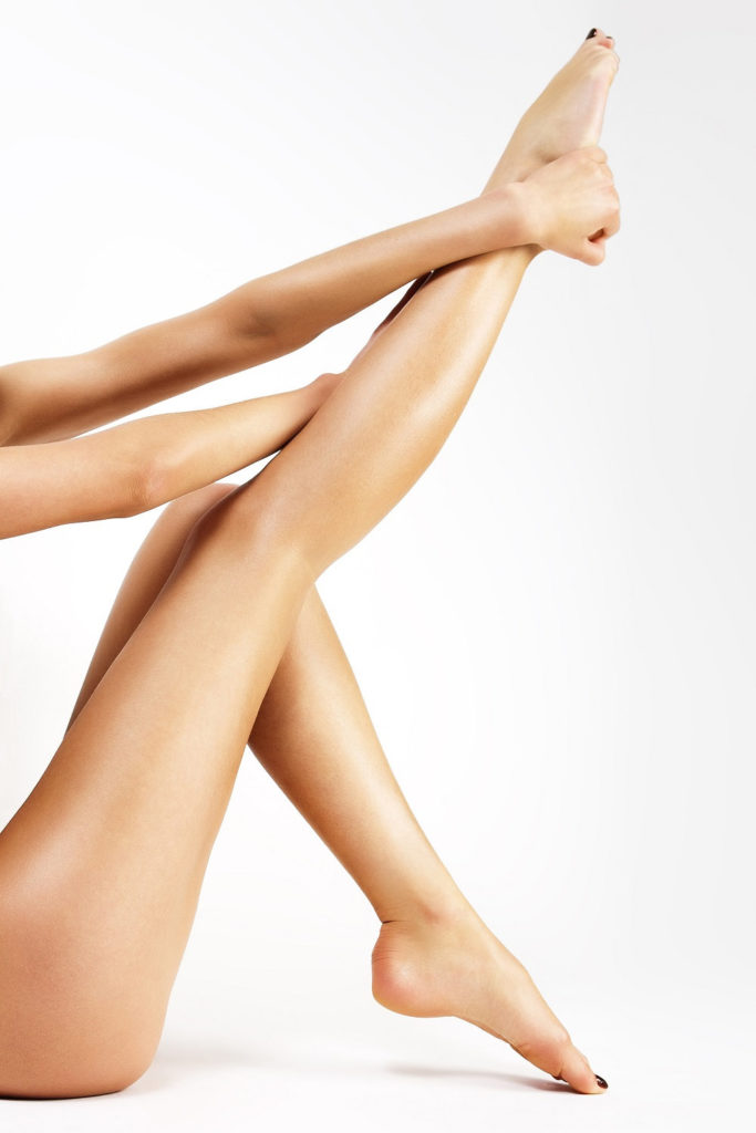 Legs after depilation